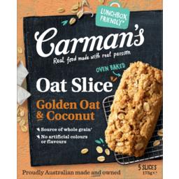 Photo of Carmans Golden Oat & Coconut Oat Slice 5 Pack 175g