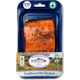 Photo of Hot Smoked Atlantic Salmon Portions - Pepper Sprinkle 200g