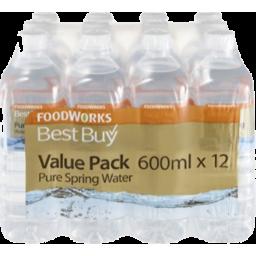 Photo of Best Buy Spring Water 600ml 12 Pack