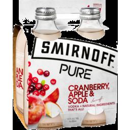 Photo of Smirnoff Pure Cranberry Apple & Soda 4x300ml Bottles
