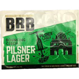 Photo of Boundary Road Brewery Bouncing Czech Pilsner 12 x 330ml Cans
