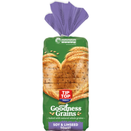Photo of Tip Top Bread Goodness Grains Soy & Linseed Toast 700g