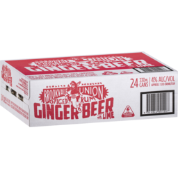 Photo of Brookvale Union Spiced Rum And Lime Ginger Beer 4.0% 4 X 6 X 330ml Can