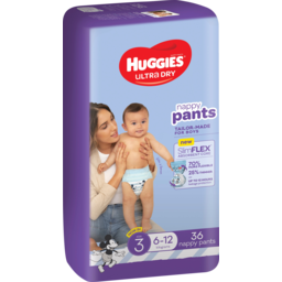 Photo of Huggies Ultra Dry Nappy Pants For Boys 6-11kg Size 3 36 Pack