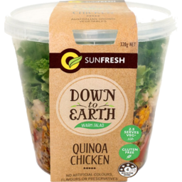 Photo of Sunfresh Down To Earth Quinoa Chicken Warm Salad Pot 320g