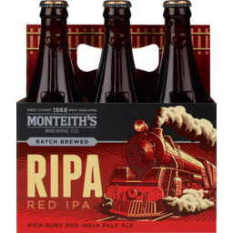 Photo of Monteith's Brewers Series Red IPA 330ml Bottles 6 pack