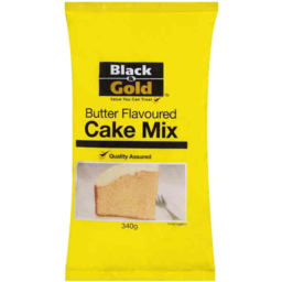 Photo of Black & Gold Cake Mix Buttercake 340gm