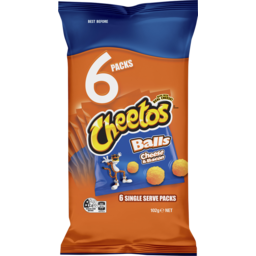 Photo of Cheetos Balls Cheese & Bacon 6 Pack 102g
