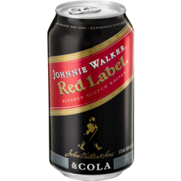 Photo of Johnnie Walker Red Label & Cola Cans 4.6% 375ml