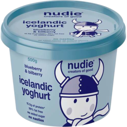 Photo of Nudie Icelandic Yoghurt - Blueberry & Bilberry 500gm