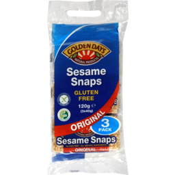 Photo of Golden Days Sesame Snaps 3x40g