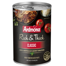 Photo of Ardmona Finely Chopped Tomatoes Rich & Thick (410g)