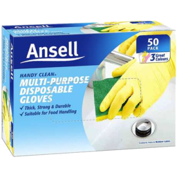 Photo of Ansell Handy Clean Disposable Gloves 50 Pack