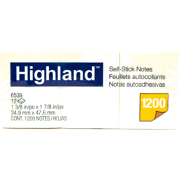 Photo of Highland Notes:1-1/2 X 2 - Yellow