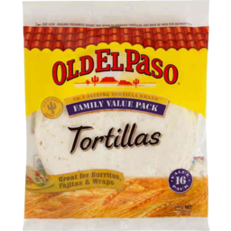 Photo of Old El Paso Tortillas Family Value Pack 16pk 640gm