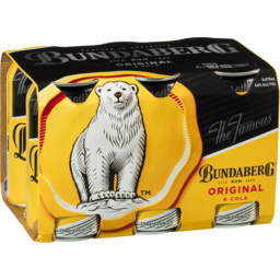Photo of Bundaberg Original Rum & Cola 6 Pack 375ml