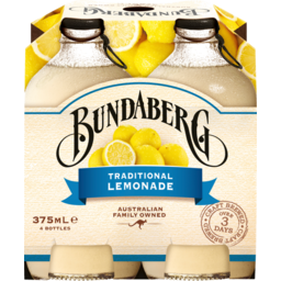 Photo of Bundaberg Traditional Lemonade 4x375ml Bottles