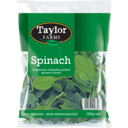 Photo of Taylors Farm Spinach Bag 120g