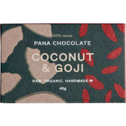 Photo of Pana Raw Coconut & Goji Choc 45g