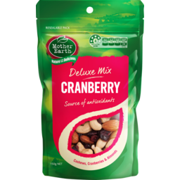 Photo of Mother Earth Deluxe Mix Cranberry 150g