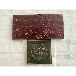 Photo of Flinders Produce  - Dark Chocolate, Strawberry & Chilli Bar 100g