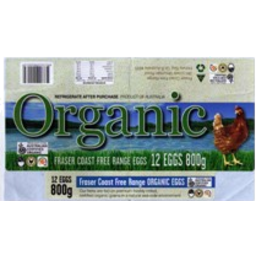 Photo of Fraser Coast - Eggs - Fraser Coast Free Range Organic - 800g