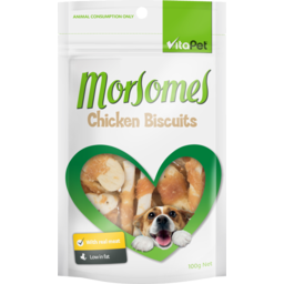 Photo of Vitapet Morsomes Dog Treats Chicken Biscuits 100g