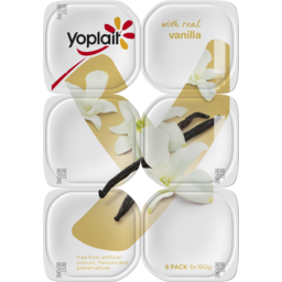 Photo of Yoplait Vanilla 6x160g