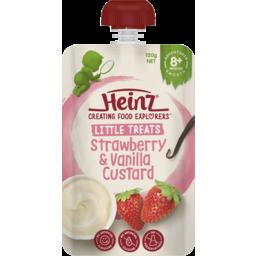 Photo of Heinz Strawberry & Vanilla Custard 120g