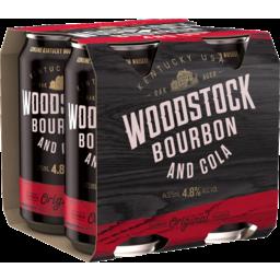 Photo of Woodstock Bourbon & Cola 375ml 4 Pack