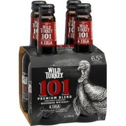 Photo of Wild Turkey 101 Bourbon & Cola Stubbies