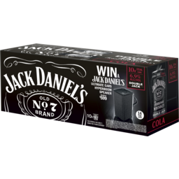 Photo of Jack Daniel's Double Jack & Cola Can 10 Pack