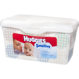 Photo of Huggies Sensitive Thick 'N' Clean Baby Wipes - 64 Ct