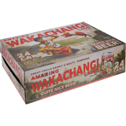 Photo of Wakachangi Uncle Kenny's Beer Lager 24x 330ml Cans