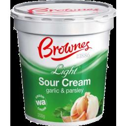 Photo of Brownes Sour Cream Garlic & Parsley (200g)