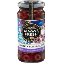 Photo of Always Fresh Olives Kalamata Sliced 220g