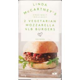 Photo of Linda McCartney Meal Vegetarian Mozzarella Burgers 2 Pack