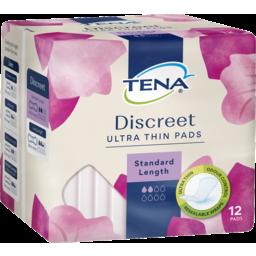 Photo of Tena Discreet Incontinence Pads Ultra Thin Standard Length 12