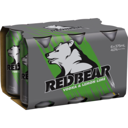 Photo of Red Bear Vodka Lemon & Lime Cans