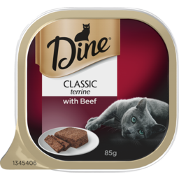 Photo of Dine Cat Food Tender Beef 85g