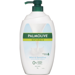 Photo of Palmolive Naturals Mild & Sensitive Body Wash Hypoallergenic 0% Parabens Recyclable 1l