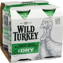 Photo of Wild Turkey & Dry Can 375ml 4 Pack