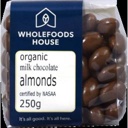 Photo of Wholefoods House Chocolate Almonds Milk 250g