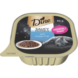Photo of Dine Cat Food Ocean Fish in a Seafood Sauce 85g