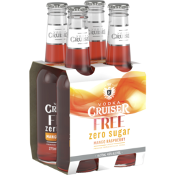 Photo of Vodka Cruiser Sugar Free Mango Raspberry 275ml 4 Pack
