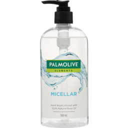 Photo of Palmolive Elements Liquid Hand Wash Soap Micellar + 100% Natural Rose Oil Pump Recyclable 500ml