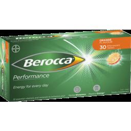 Photo of Berocca Energy Vitamin Orange Effervescent Tablets 30 Pack