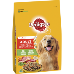 Photo of Pedigree Dry Dog Food Real Beef And Vegies 8kg Bag