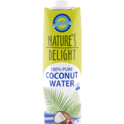 Photo of Natures Delight Coconut Water 100% Pure 1l
