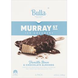 Photo of Bulla Ice Cream Murray St Vanilla & Almond 4pk